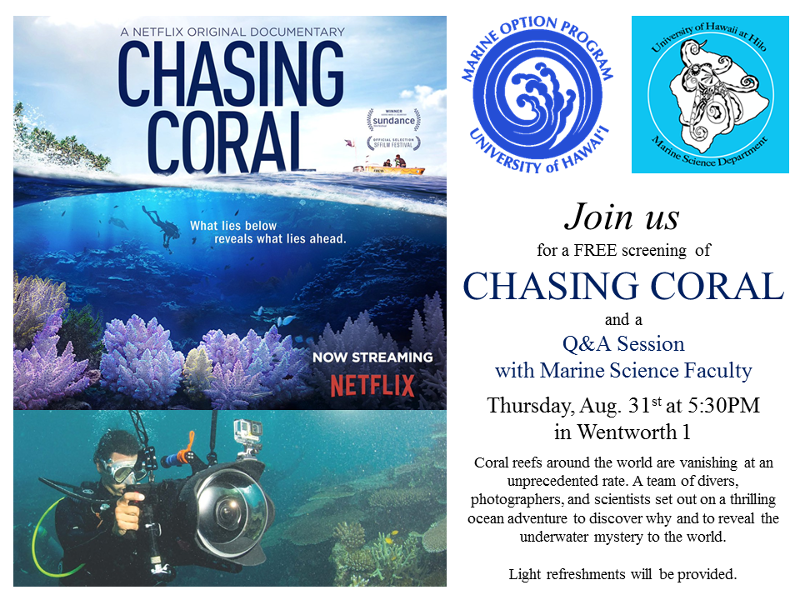 Screening of Chasing Coral